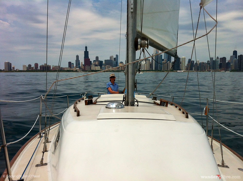 Sheri Takes us For a Sail on Lake Michigan in Chicago
