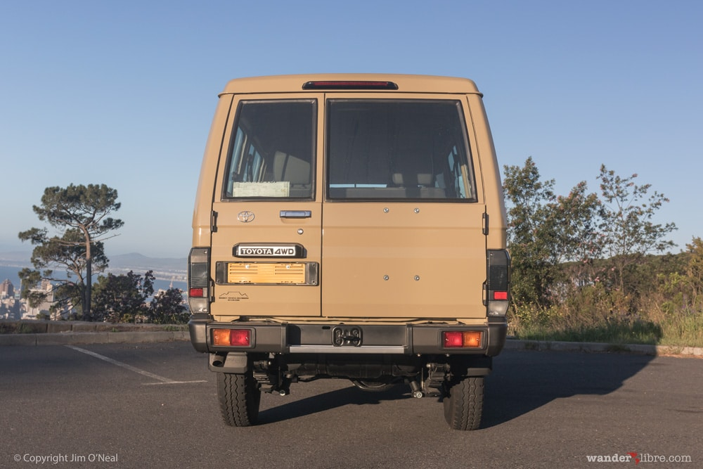 Rear Exterior, Pre-Build, Toyota Land Cruiser 78 Series Troop Carrier