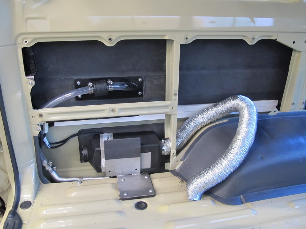 Installation of Webasto Diesel Heater in Land Cruiser Troopy