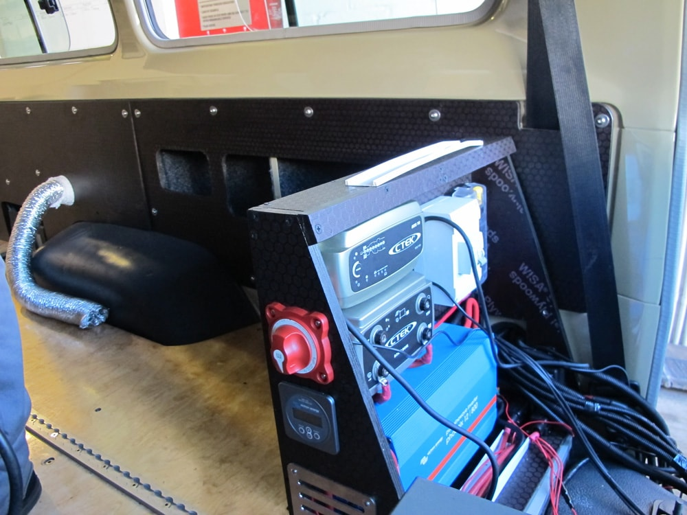 R&D Offroad Installing CTEK Battery Management System, Inverter, & Other Electrical Components in Land Cruiser Troopy