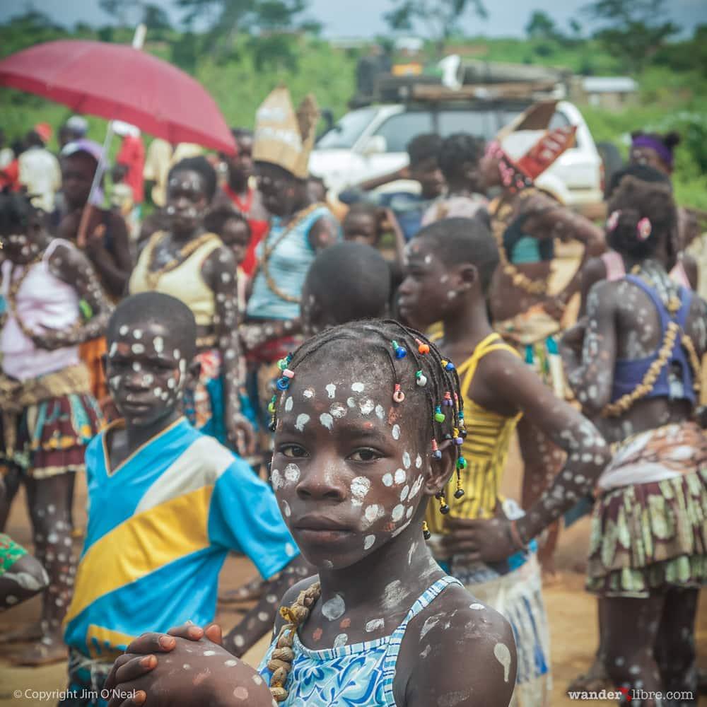 Children Dressed for Carnival Celebration in Angola