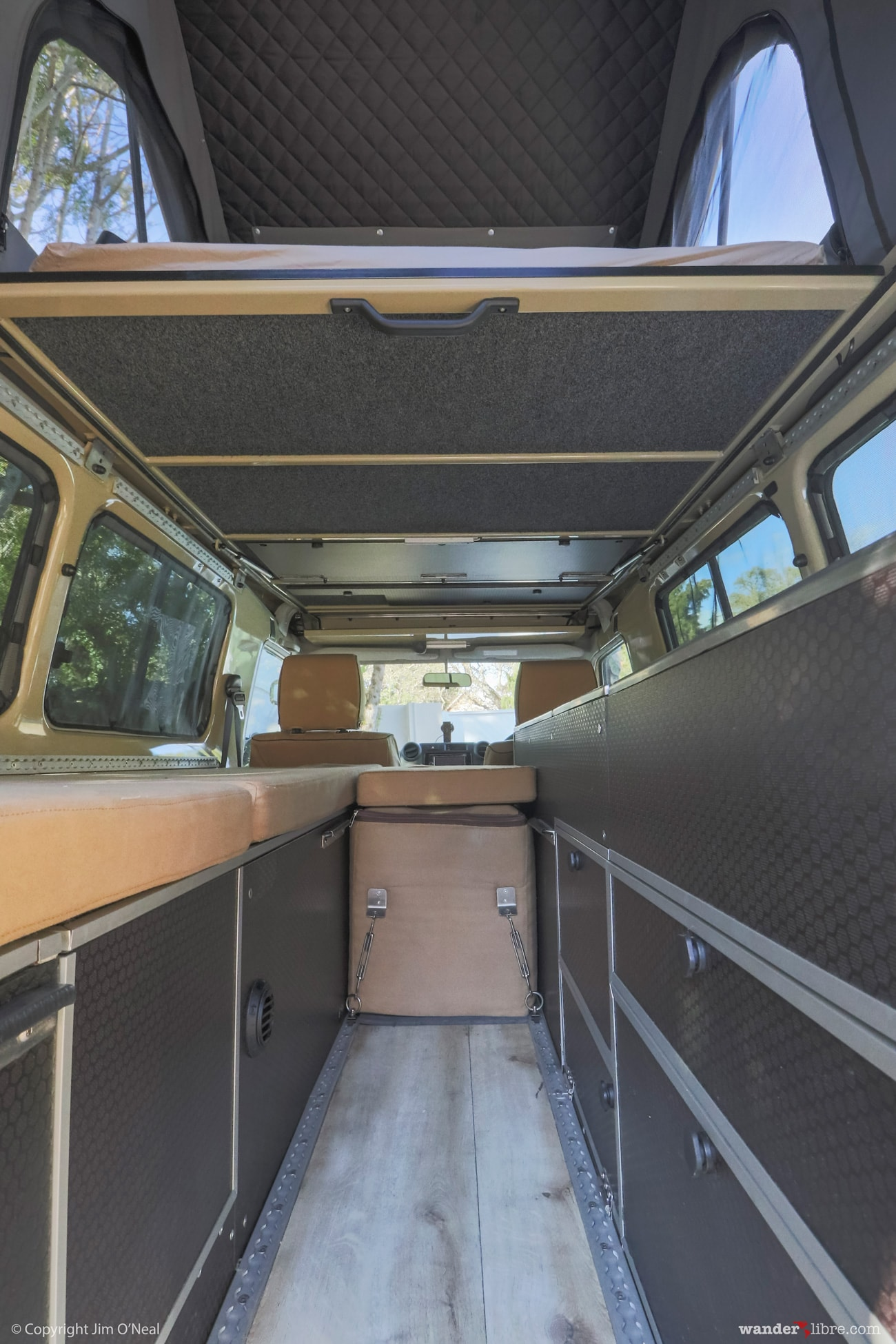 Land Cruiser Troopy Camper Conversion Part 4 Of Wander Libre Toyota 70 Pick Up Outback Adventures Drop Down Table Troop Carrier Pop Top Roof With Bed