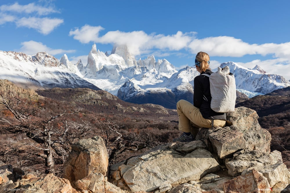 Stopping at Mirador del Fitz Roy to admire the views