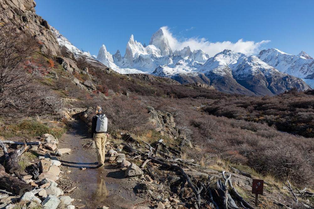 Sheri Hikes through the valley