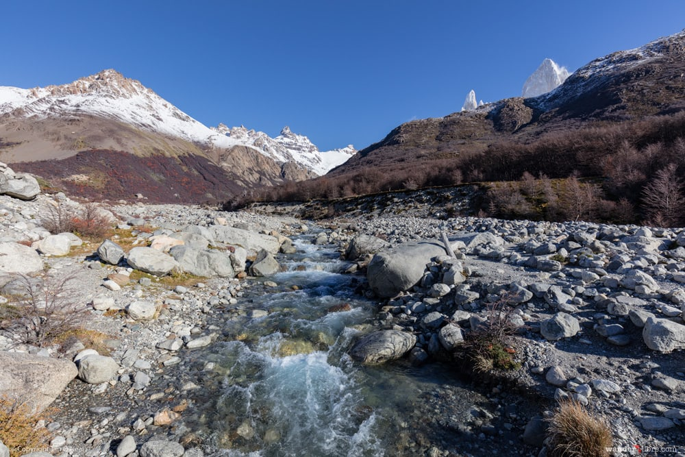 River on Laguna de Los Tres trail
